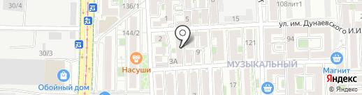 Дружба на карте Краснодара