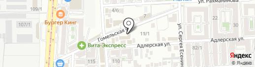 Drive23.ru на карте Краснодара
