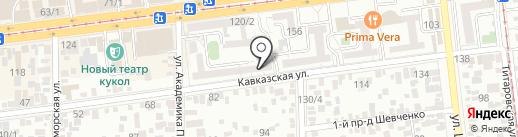 Веб-сегмент на карте Краснодара