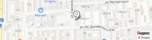 Он и Она на карте Краснодара