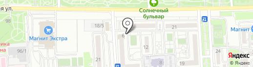 Солнечная на карте Краснодара