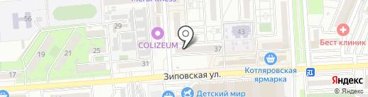 Мужская парикмахерская на карте Краснодара