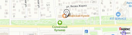 Кафе на карте Краснодара