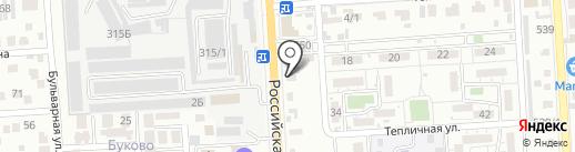 СТО на карте Краснодара