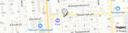 На Тенистой на карте Краснодара