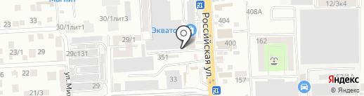 Мильяна-Юг на карте Краснодара
