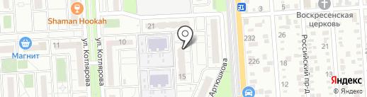 Обезьянка на карте Краснодара
