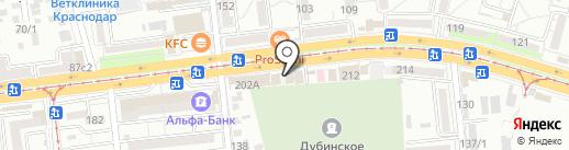 Каравай Кубани на карте Краснодара