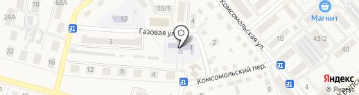 Семилукская средняя общеобразовательная школа №1 на карте Семилуков