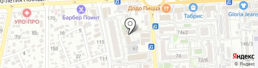 Департамент Застройщиков Краснодара на карте Краснодара