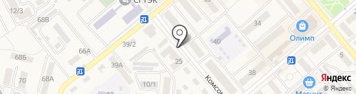 Кудри на карте Семилуков