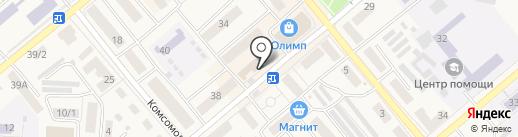 Магазин по продаже фруктов и овощей на карте Семилуков