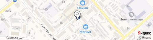 Киоск по продаже мясной продукции на карте Семилуков