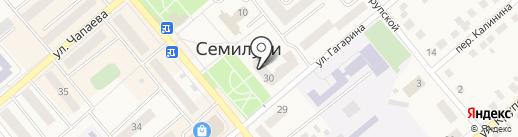 Золушка-принцесса на карте Семилуков