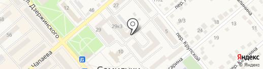 Контур на карте Семилуков