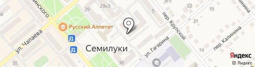 Магазин свежей выпечки на карте Семилуков