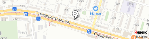 Репка на карте Краснодара