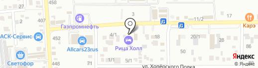 Ritsa-Hall на карте Краснодара