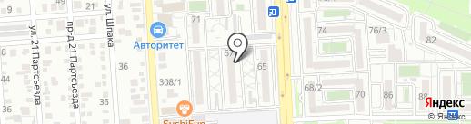 Лак на карте Краснодара