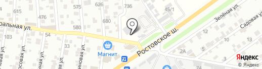 Home-otel на карте Краснодара