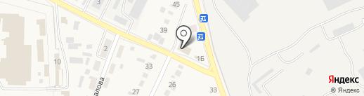 Каскад на карте Семилуков