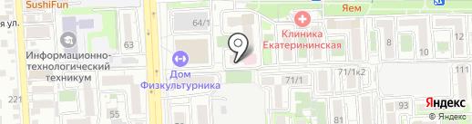 Дивия на карте Краснодара