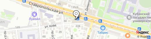 Додо Пицца на карте Краснодара
