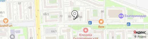 СЕРДЦЕ на карте Краснодара