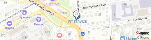 Пункт технического осмотра транспорта на карте Краснодара