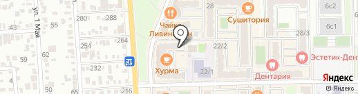 Марафет на карте Краснодара