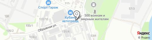 Сарез на карте Краснодара