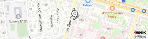 Антур на карте Краснодара