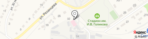 Богатырь на карте Семилуков