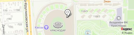ФК Краснодар на карте Краснодара