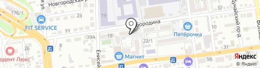 Отражение на карте Краснодара