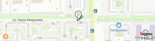 Аверс на карте Краснодара