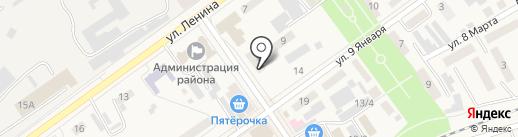 Магазин одежды и обуви на карте Семилуков