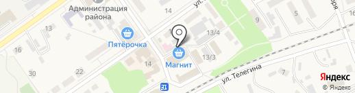 Рыболов на карте Семилуков