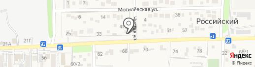 Автокомплекс на карте Российского