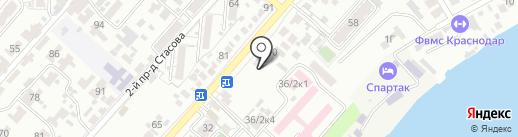 Волжанка на карте Краснодара
