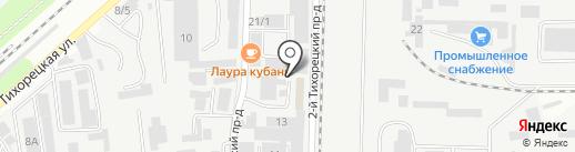 Дизайн-Экран на карте Краснодара