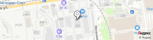 Супермаркет кирпича на карте Краснодара
