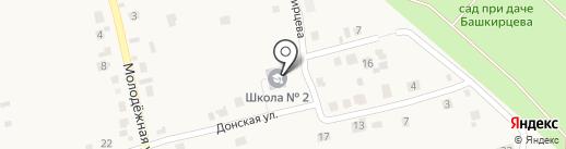 Семилукская средняя общеобразовательная школа №2 на карте Семилуков