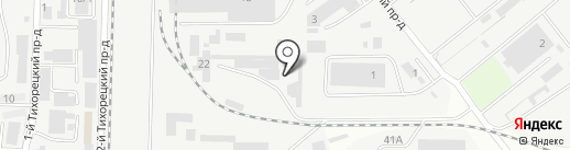 Эконика на карте Краснодара