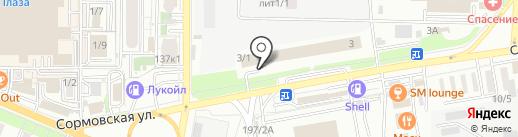 Монарх на карте Краснодара