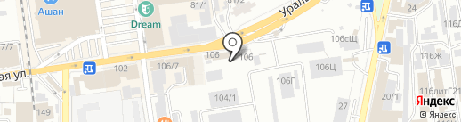 Витрум на карте Краснодара