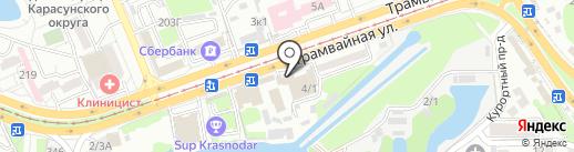 Дом в Краснодаре на карте Краснодара
