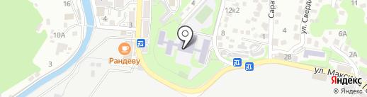 Средняя общеобразовательная школа №4 на карте Туапсе