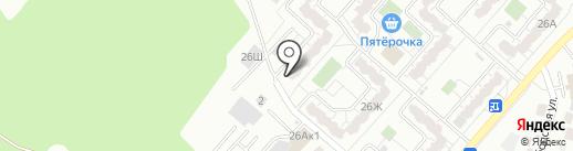 Есения на карте Воронежа