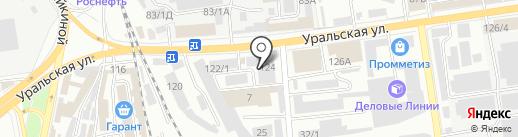 Комашка на карте Краснодара
